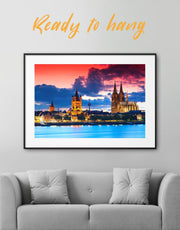 Framed Cityscape View Wall Art Print