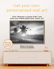 Framed Coastal Wall Art Canvas 0621