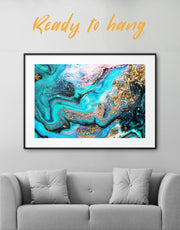 Framed Cold Geode Wall Art Print