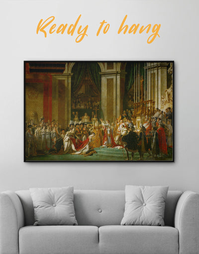 Framed Coronation of Napoleon by Jacques-Louis David Wall Art Canvas - bedroom framed canvas Hallway Library Living Room