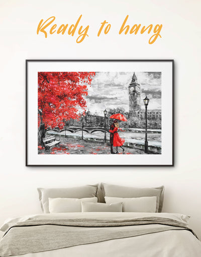 Framed Couple in Love Wall Art Print - bedroom framed print framed wall art Living Room london wall art