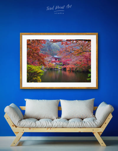 Framed Daigo-Ji Temple in Fushimi Wall Art Print - framed print japanese wall art Living Room Nature Office Wall Art