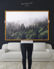 Framed Dark Forest Wall Art Canvas
