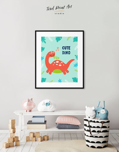 Framed Dinosaur Nursery Art Print - Wall Art framed print Kids room kids wall art Nursery Nursery animal prints