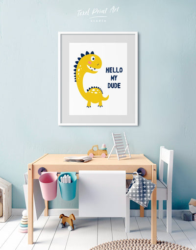 Framed Dinosaur Nursery Wall Art Print - Wall Art framed print Kids room kids wall art Nursery Nursery animal prints