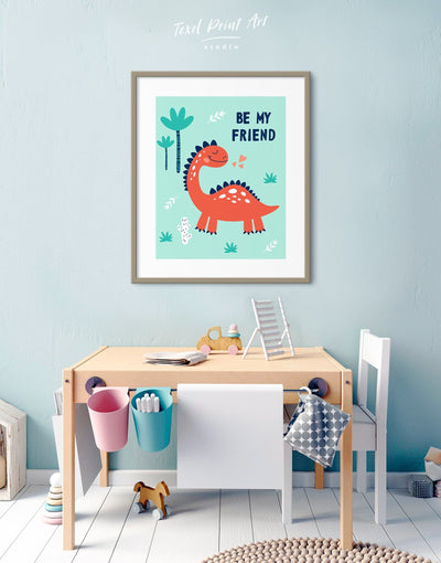 Framed Dinosaur Wall Art for Nursery Print - Wall Art framed print Kids room kids wall art Nursery Nursery animal prints