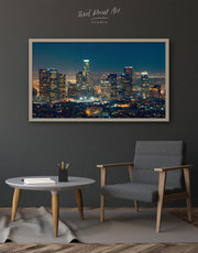 Framed Downtown Los Angeles Wall Art Canvas
