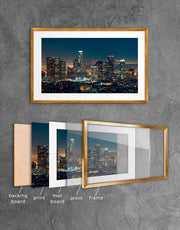 Framed Downtown Los Angeles Wall Art Print