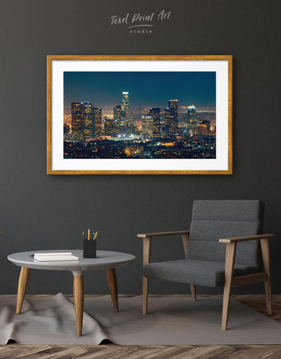 Framed Downtown Los Angeles Wall Art Print - Wall Art bedroom City Skyline Wall Art Cityscape framed print Hallway