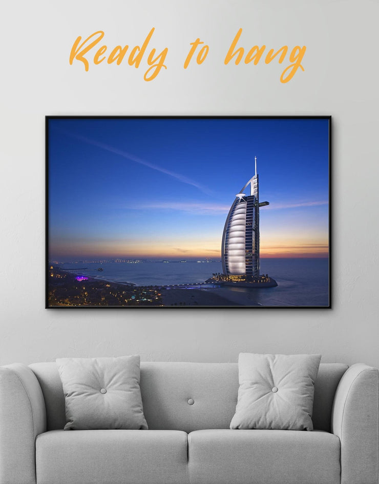 Framed Dubai City Wall Art Canvas - Canvas Wall Art bedroom City Skyline Wall Art Cityscape framed canvas Hallway