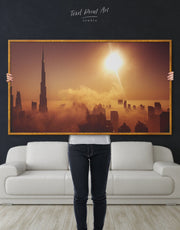 Framed Dubai Wall Art Canvas