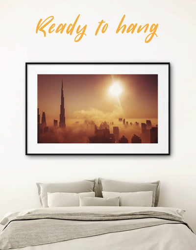 Framed Dubai Wall Art Print - bedroom City Skyline Wall Art Cityscape Dubai framed