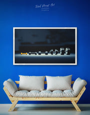 Framed Dumbbells Wall Art Canvas