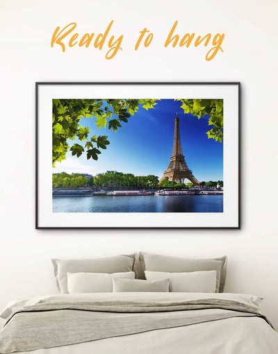 Framed Eiffel Tower Paris Wall Art Print - bedroom Cityscape eiffel tower wall art framed print framed wall art