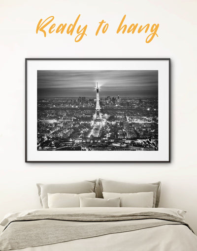 Framed Eiffel Tower Wall Art Print - bedroom black and white framed wall art black and white wall art Cityscape eiffel tower wall art
