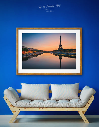 Framed Eiffel Tower Wall Art Print - bedroom City Skyline Wall Art Cityscape eiffel tower wall art framed print