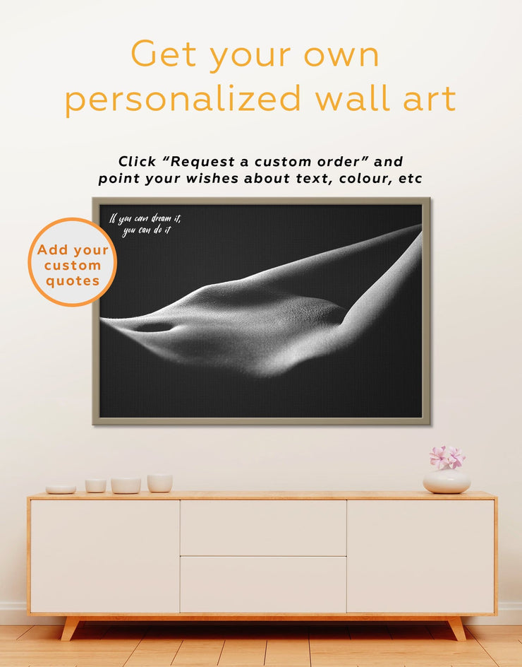Framed Erotic Wall Art Canvas - bachelor pad bedroom black and white framed wall art black and white wall art Erotic