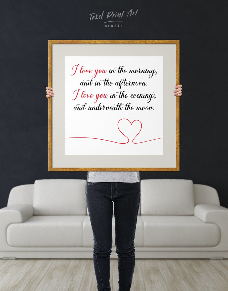 Framed Everyday Love Wall Art Print - Wall Art bedroom framed print Hallway inspirational wall art Living Room