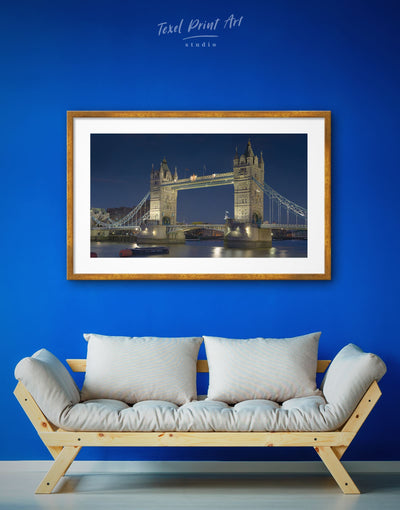Framed Famous Bridge Wall Art Print - bedroom Bridge City Skyline Wall Art Cityscape framed print