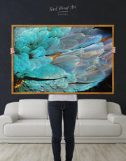Framed Feather Wall Art Canvas