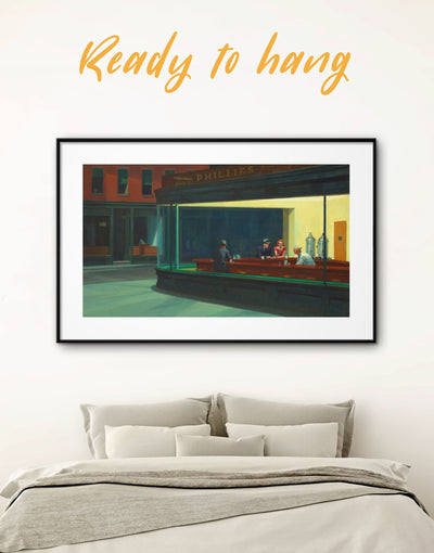 Framed Fine Art Edward Hopper Wall Art Print - bedroom Contemporary contemporary wall art framed print Living Room
