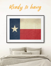 Framed Flag of Texas State Wall Art Print