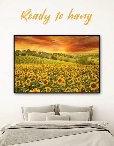 Framed Flower Wall Art Canvas - bedroom framed canvas Hallway Kitchen landscape wall art