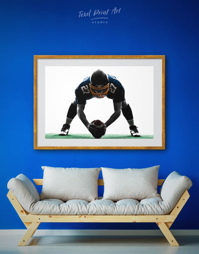 Framed Football Wall Art Print - bachelor pad black and white wall art contemporary wall art Football Wall Art framed print