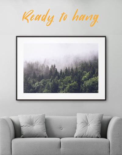 Framed Forest Wall Art Print - bedroom forest wall art framed print Hallway landscape wall art
