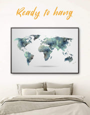 Framed Geometric Map Wall Art Canvas 0031