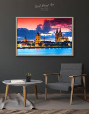 Framed Germany Cityscape Wall Art Canvas