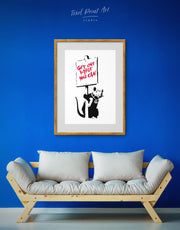 Framed Get Out While You Can by Banksy Wall Art Print