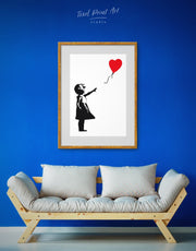 Framed Girl with Balloon by Banksy Wall Art Print