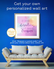 Framed Go Confidently In The Direction Of Your Dreams Wall Art Print 0956