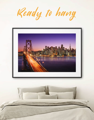 Framed Golden Gate Wall Art Print - bedroom framed print Golden Gate bridge wall art Hallway Living Room