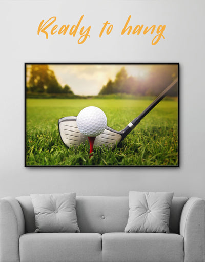 Framed Golf Game Wall Art Canvas - bachelor pad bedroom framed canvas Green Hallway