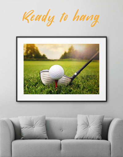 Framed Golf Game Wall Art Print - bachelor pad bedroom framed print Green Hallway