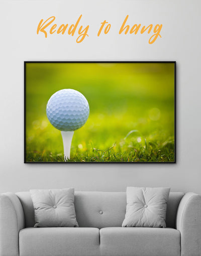 Framed Golf Wall Art Canvas - bachelor pad bedroom framed canvas green Hallway