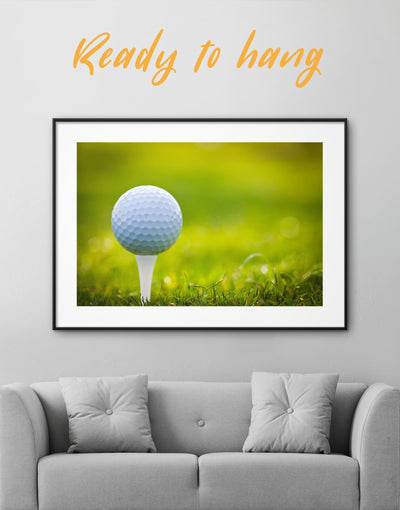 Framed Golf Wall Art Print - bachelor pad bedroom framed print green Hallway