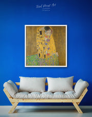 Framed Gustav Klimt's The Kiss Wall Art Canvas