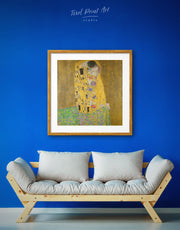 Framed Gustav Klimt's The Kiss Wall Art Print