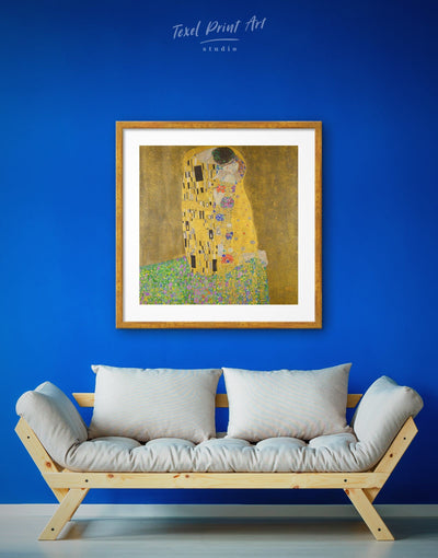 Framed Gustav Klimts The Kiss Wall Art Print - art gallery wall bedroom framed print Gustav Klimt Hallway