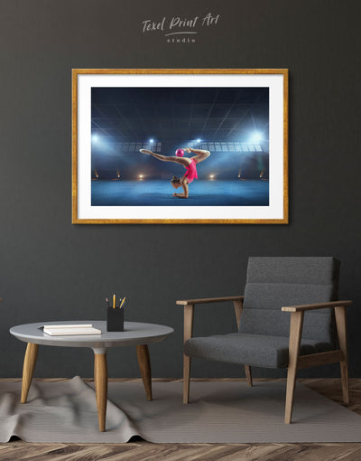 Framed Gymnastics Wall Art Print - Wall Art bedroom Blue framed print Gymnastics Hallway