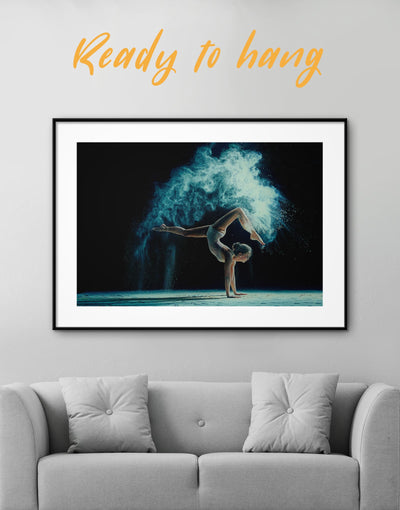 Framed Gymnastics Wall Art Print - Wall Art bedroom Dancers wall art framed print Gymnastics Hallway