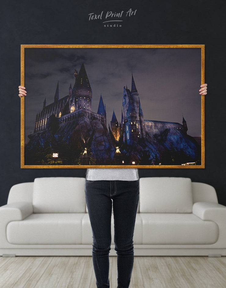Framed Harry Potter Wall Art Canvas - bedroom Black framed canvas Hallway harry potter wall art