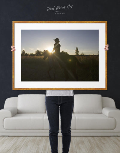 Framed Horse Ride Wall Art Print - Wall Art Animal Animals bedroom framed print Hallway