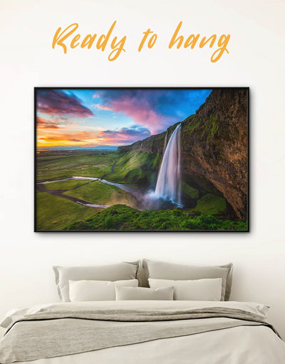 Framed Iceland Nature Wall Art Canvas - bedroom framed canvas Hallway landscape wall art Living Room