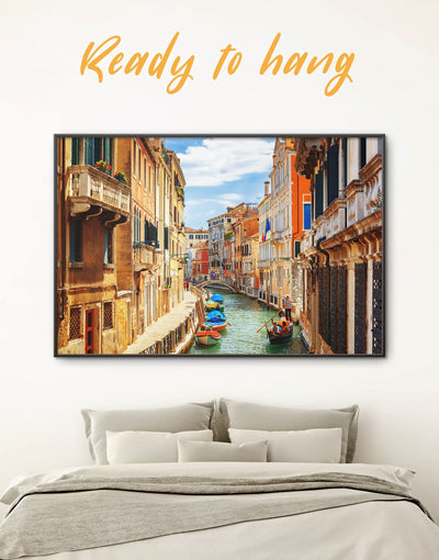 Framed Italian Wall Art Canvas - bedroom City Skyline Wall Art Cityscape framed canvas Italy wall art