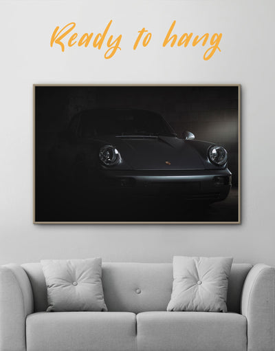 Framed Jackson Autocare Wall Art Canvas - bachelor pad black car framed canvas garage wall art