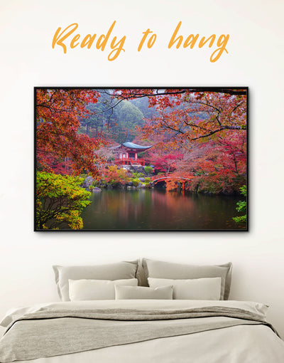 Framed Japan Nature Wall Art Canvas - framed canvas japanese wall art Living Room Nature Office Wall Art